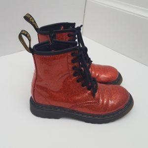 Dr Martens red glitter boot toddler girl 11